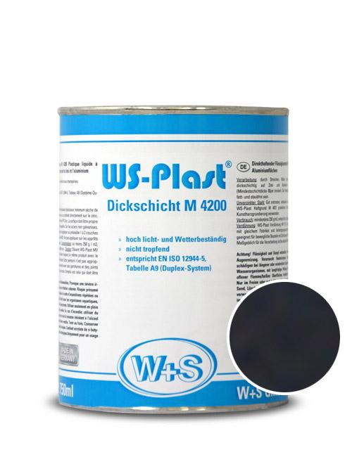 0001 Краска акриловая WS-Plast  0001 (0,75л) черный