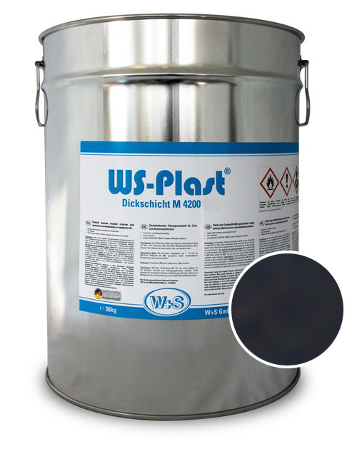 0001 Краска акриловая WS-Plast  0001 (30кг) черный